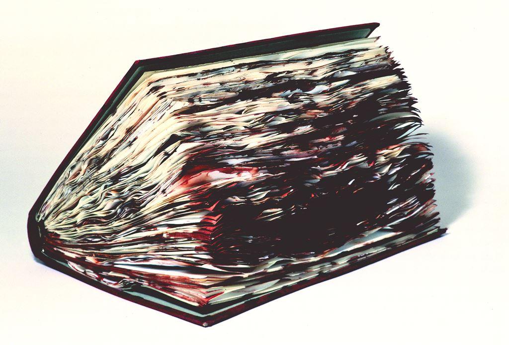 """""""Blutbuch 1990-1992"""", der Buchkörper, 0 Rh (positiv) auf Papier, Fadenrückstichheftung, Ganzleineneinband"""