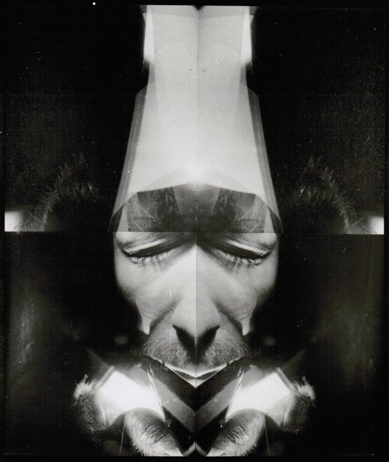 """""""Tafel 1"""" 1986,  Silber-Gelantine-Print, montiert, 110 x 100 cm"""